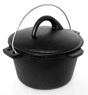 Cast Iron Stock Pot Dutch Oven Camp fire Stew Pot