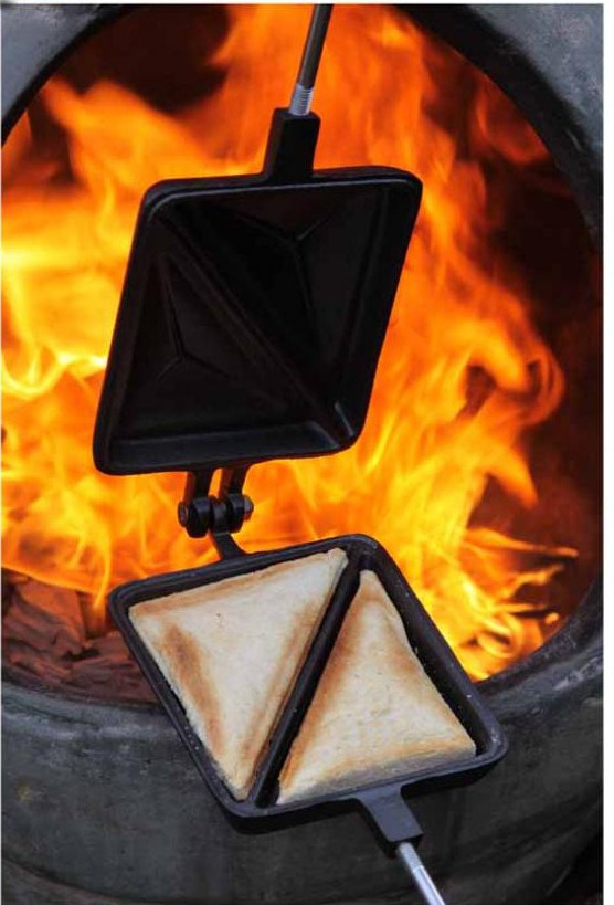 Cast Iron Toastie Maker Long Handled