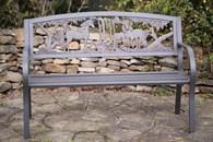 Cast Iron Unicorn Bench With Steel Frame