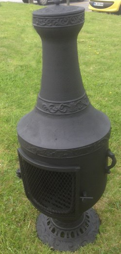 Cast Iron Urn Chimenea and Grill
