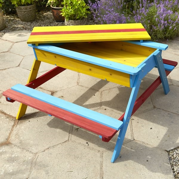 Childrens Picnic Bench With Sand Pit Savvysurf Co Uk