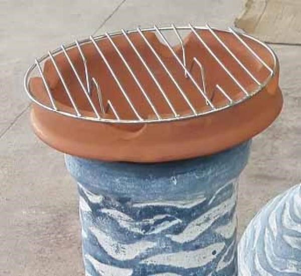 Chimenea Clay Cooking Pot with Grill