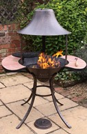 Chimenea Fire Bowl & BBQ Grill in One