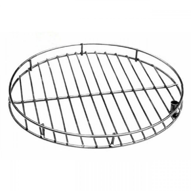 Chromed Steel Swivel BBQ Grill for Chimeneas