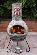 Clay Celtic Cross Chimenea