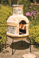 Clay Chimenea and Barbeque Combined
