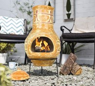 Clay Chimenea Patio Heater