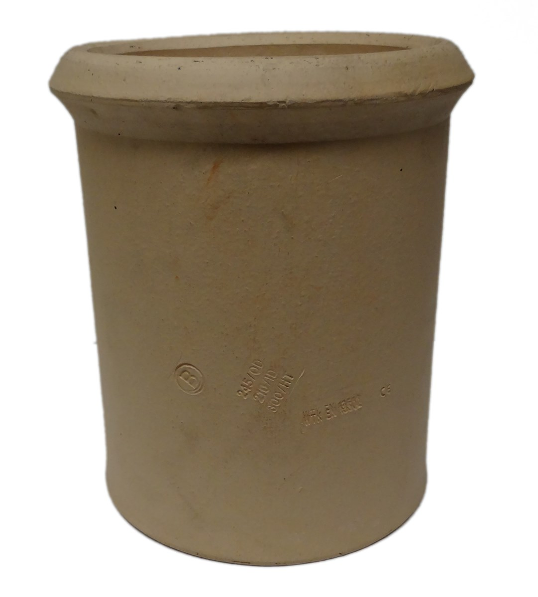 Clay Chimney Pot Straight Various Sizes Buff