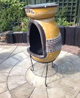 Clay Fire Bowl with BBQ Grill In One