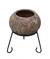 Clay Fire Bowl with Stand 2 Sizes