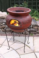 Clay Fire Pit and BBQ Combined