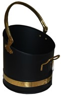 Coal Bucket Coal Hod Scoop with Brass Handles