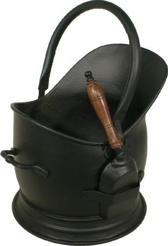 Coal Bucket with Shovel Black