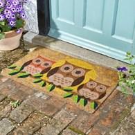 Coir Owl Door Mat