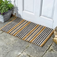 Coir Stripy Door Mat