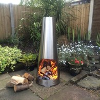 Colour Changing Stainless Steel Chimenea