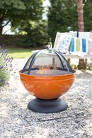 Colourful Enamelled Fire Pit Four Colours Available