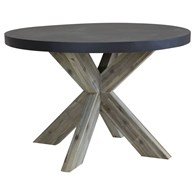 Contemporary Concrete with Wood Garden Table