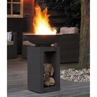Contemporary Firebowl with Modern Stand 2 Sizes