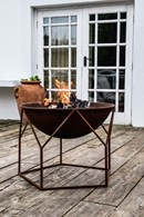 Contemporary Firepit in Rust or Black