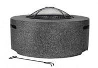 Contemporary Firepit with BBQ Grill and Mesh Guard