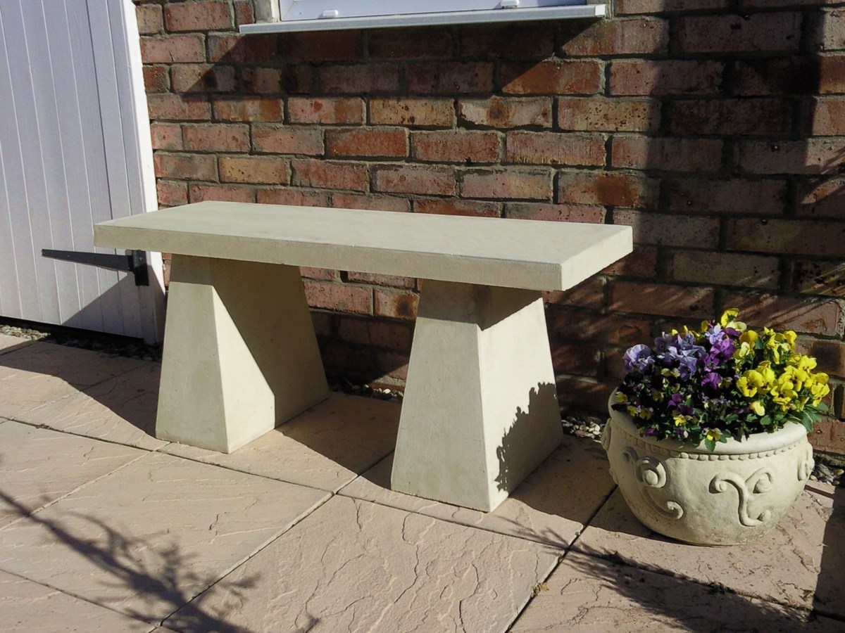 Contemporary Modular Garden Bench Natural Cream