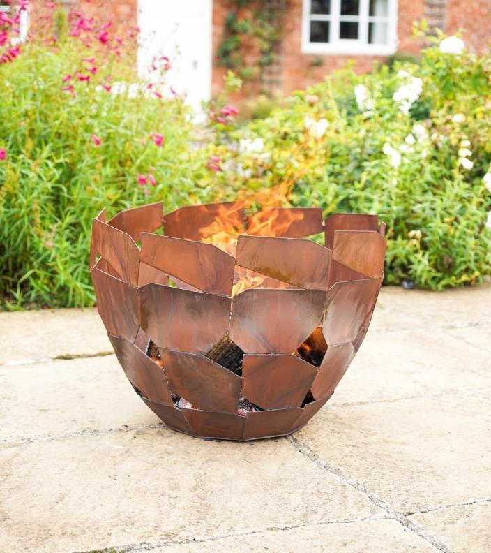 Contemporary Rusty Fire Bowl