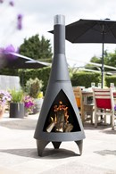 Contemporary Steel Chimenea