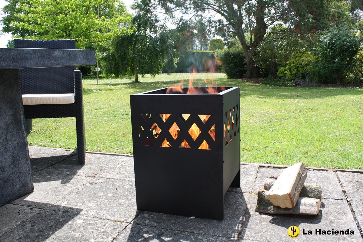 modern steel fire pit garden incinerator fire bowl patio. Black Bedroom Furniture Sets. Home Design Ideas