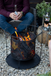 Contemporary Steel Firepit with Mesh Design
