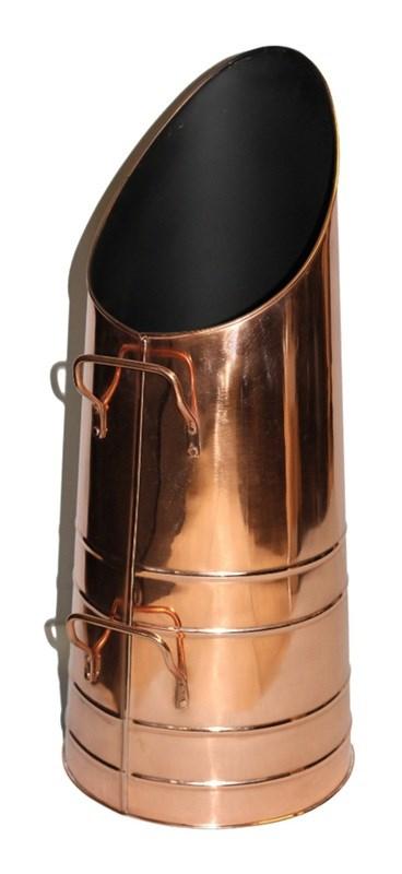 Copper Colour Coal Hod