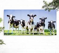 Large Cow Canvas Garden Art