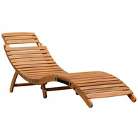 Curved Wooden Sun Lounger Folding