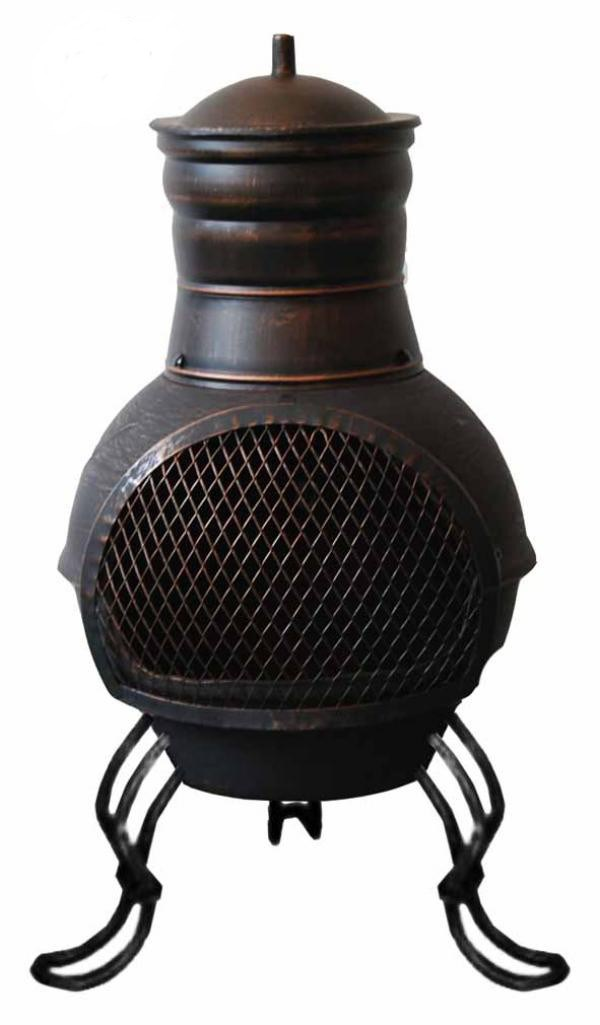 Elegant Small Cast Iron Steel Chimenea Chiminea Cast Iron Firepit