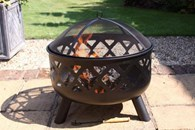 Deep Fire Bowl with Criss Cross Cut Out