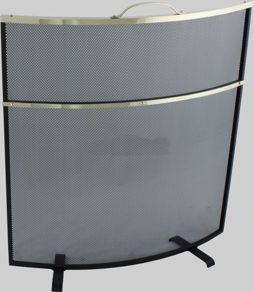 Deluxe Fire Guard in Brass or Aluminium Trim
