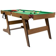 Deluxe Folding 6ft Snooker and Pool Table