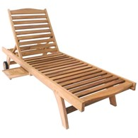 Deluxe Garden Reclining Sun Lounger with Tray