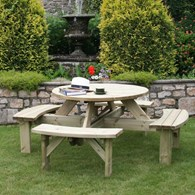 Eight Seater Wooden Picnic Table