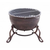 Elidir Cast Iron Fire Bowl Patio Heater and BBQ In One