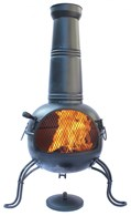 Enamel Coated Steel Chimenea Three Sizes