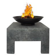 Modern Enamel Coated Steel Fire Pit with Stand