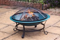 Enamelled Steel Fire Bowl in Green