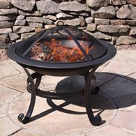 Enamelled Steel Firepit in Black