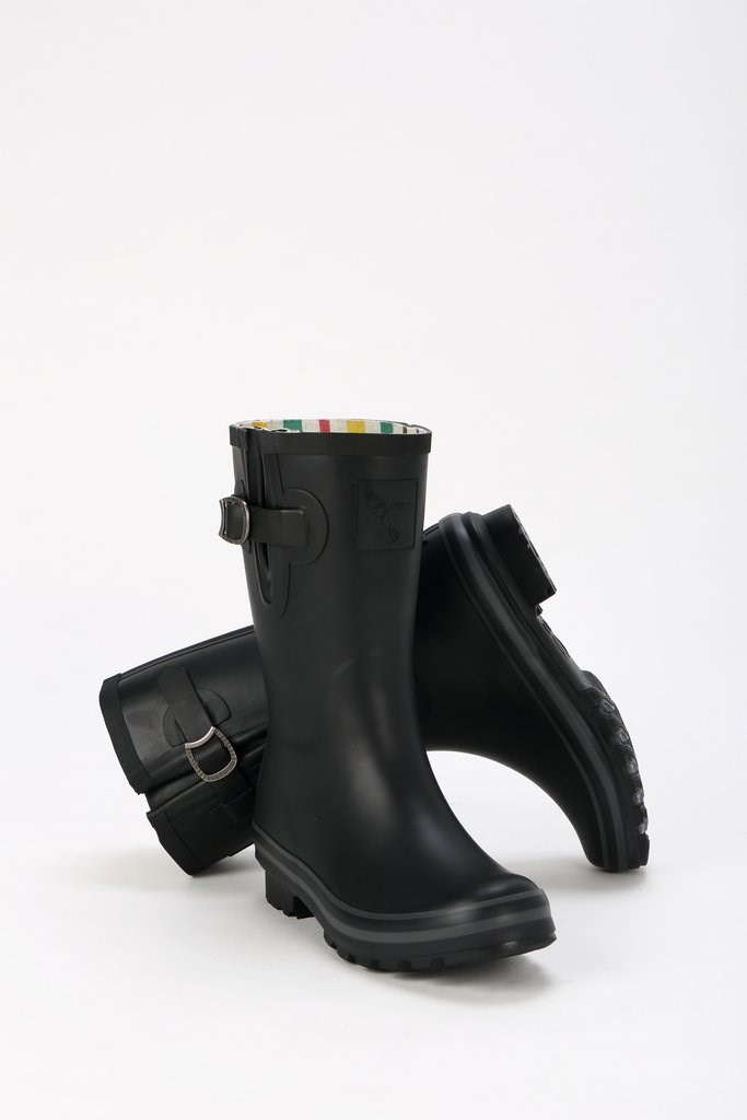 Evercreatures Black Short Wellies Natural Rubber