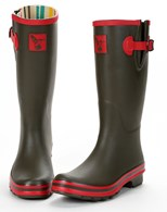 Evercreatures Ladies Wellies Army Style