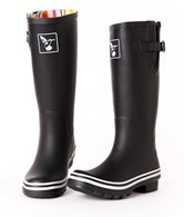 Evercreatures Ladies Wellies Black