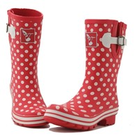 Evercreatures Polka Dot Short Ladies Wellies