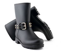 Evercreatures PVC Studded Biker Wellies