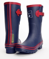 Evercreatures Raspberry Navy Ladies Wellies Short